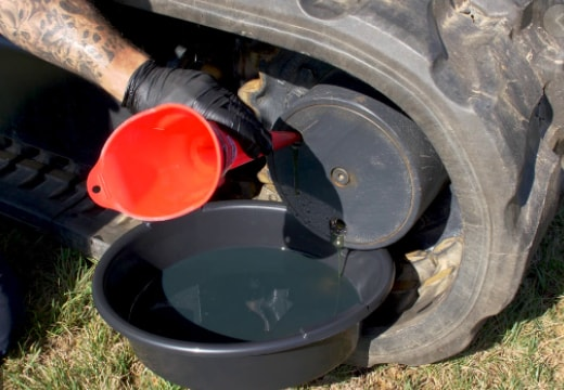 Oil goes into excavator final drive